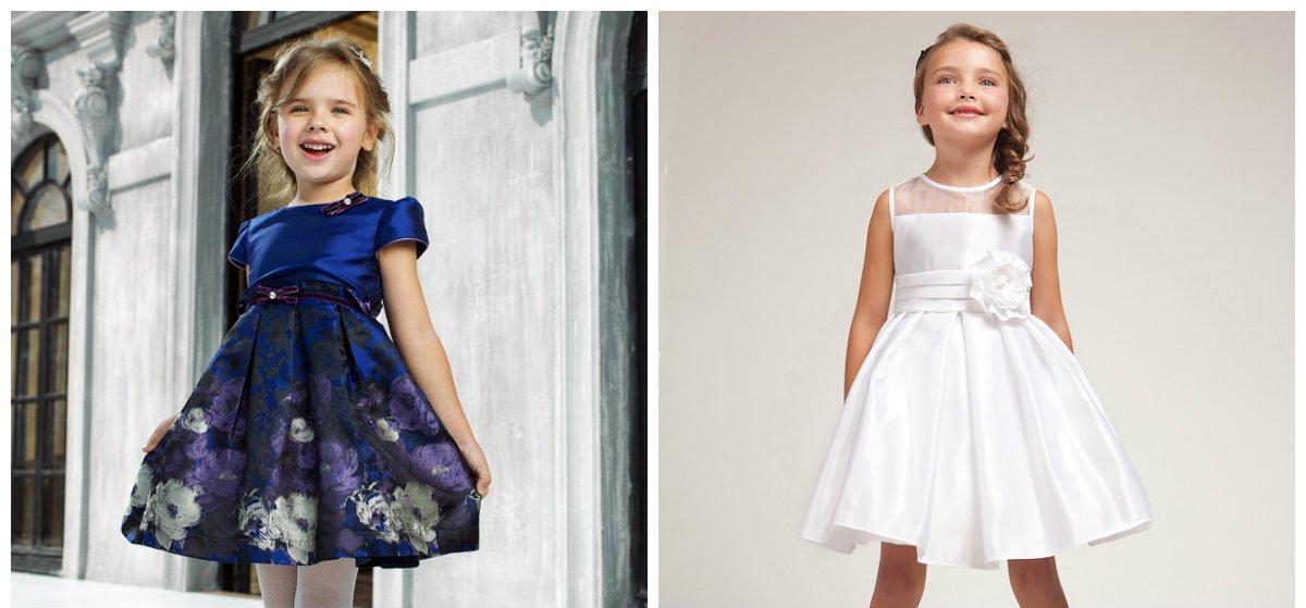 La robe fillette 2018 a l'air élégant et chic.