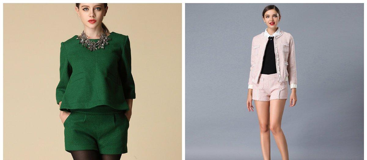 Les costume femme 2018 avec une jupe sont très populaires
