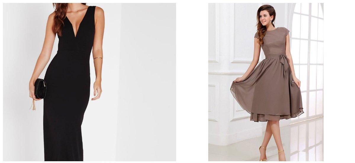 Les robes du soir 2018 avec un dos ouvert sont très modestes, sans détails inutiles.