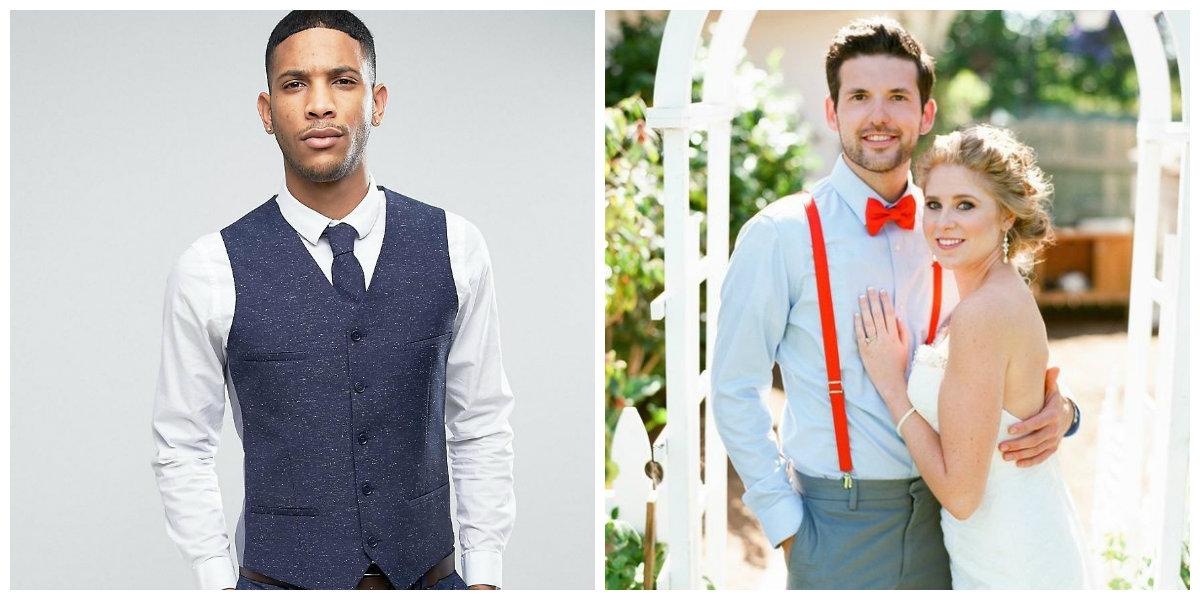 Les teintes les plus populaires des costume mariage 2019: blanc, lilas et bleu profond.