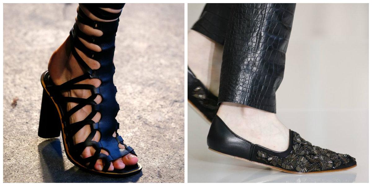 Le mélange de baskets avec des chaussures sur la plateforme est dans la tendance des chaussures femme 2019