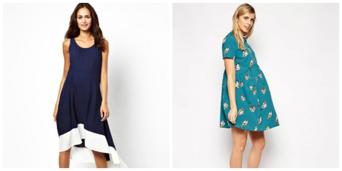 Les vêtements de style Trapezium sont dans la tendance des robe femme enceinte 2019.