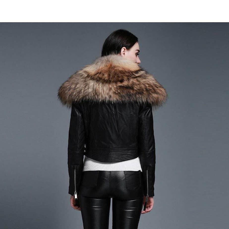 Cuir dans les manteaux femme 2021