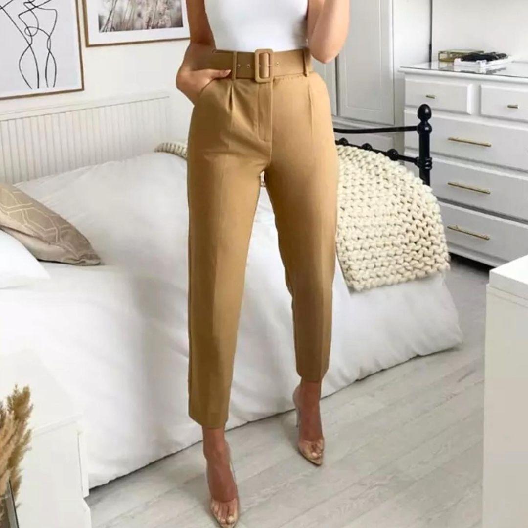 Pantalon femme taille haute 2021