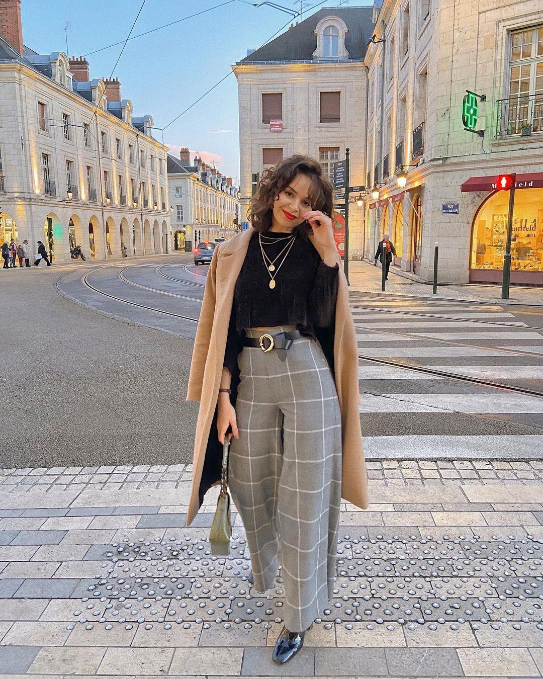 Pantalon à carreaux pour femme 2021