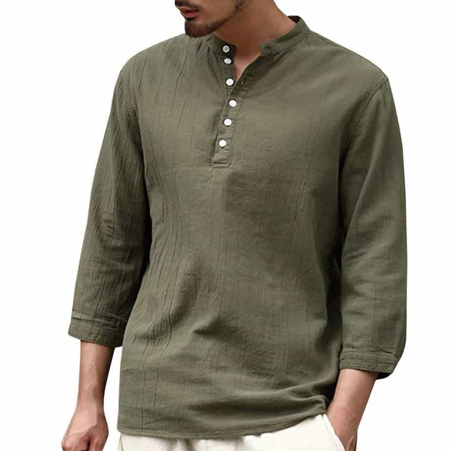 Chemises pour hommes sans col